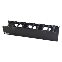 """Ordenador Plastico 2U Horizontal 19"""" Negro - Siemon"""