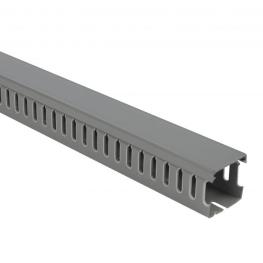 Canaleta PVC 80x40x2000mm Gris Ranurada PVC (Alto x Ancho)