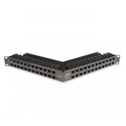 Patch Panel Angulado 48Posiciones Vacio 1U Negro Blindado Z-Max Siemon