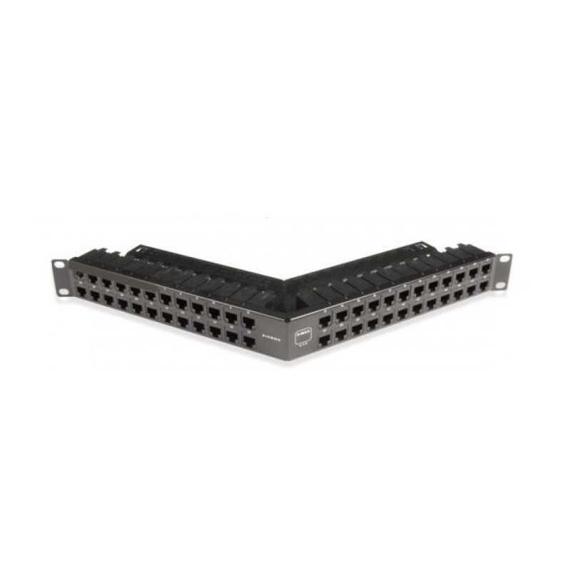 Patch Panel Angulado 48Posiciones Vacio 1U Negro Blindado Z-Max Siemon