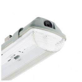 Equipo LED Hermetico Policarbonato 2x9W IP65 60Cm (Para Tubos)