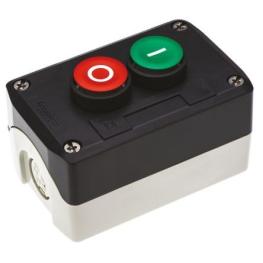 Pulsador Partir-Parar 22mm Rojo-Verde 1Na+1Nc 220Vac con Protected LED