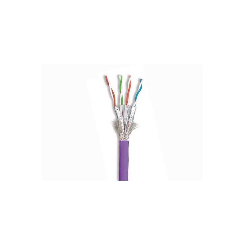 Cable S/Ftp Cat 7A Tera 1000 Mhz Lszh Violeta Reel 305 Mts. Siemon