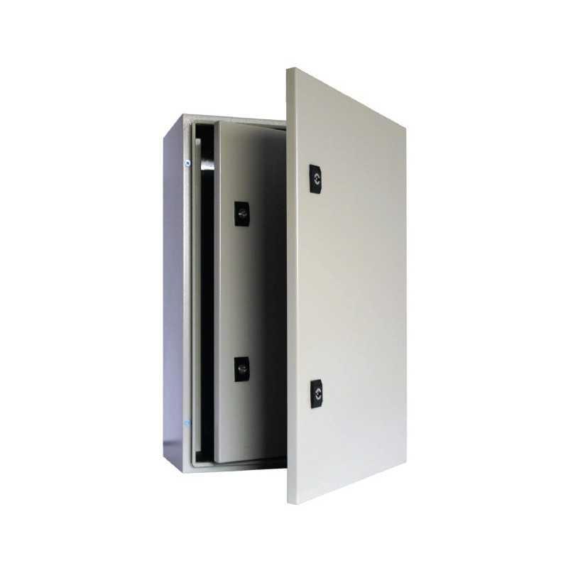 Caja Metalica 1000x600x300 mm con Puerta Interior Y Placa De Montaje-Bm Electric
